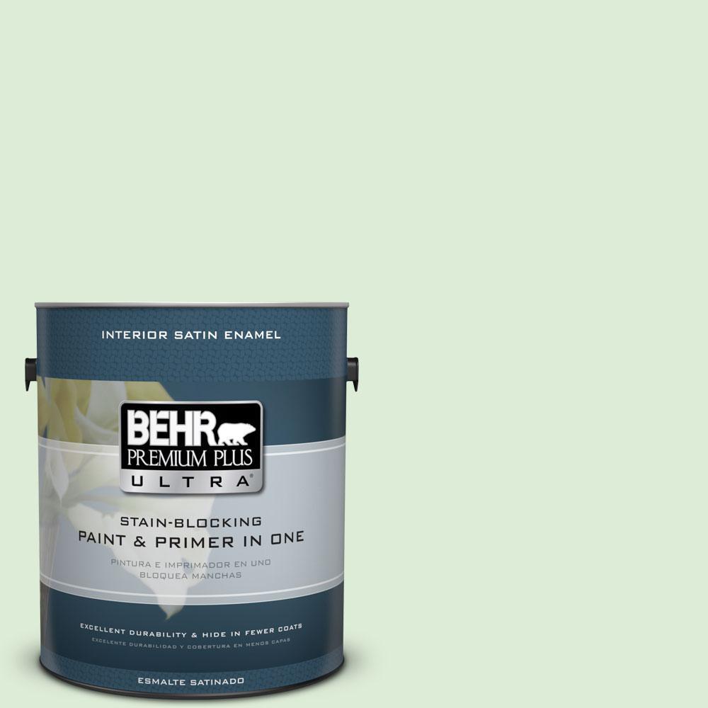 1-gal. #M390-2 Misty Meadow Satin Enamel Interior Paint
