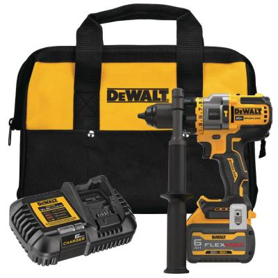 20-Volt MAX Cordless Brushless 1/2 in. Hammer Drill/Driver with FLEXVOLT ADVANTAGE with (1) FLEXVOLT 6.0Ah Battery