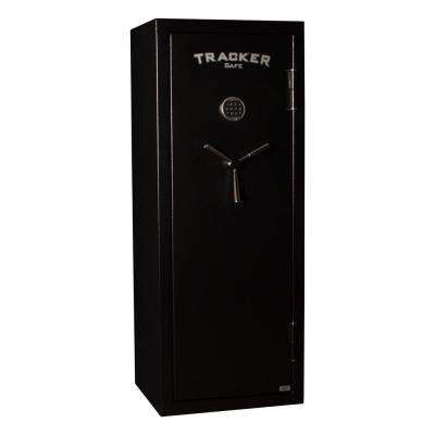12-Gun Fire Resistant Electronic Lock Gun Safe in Black Powder Black