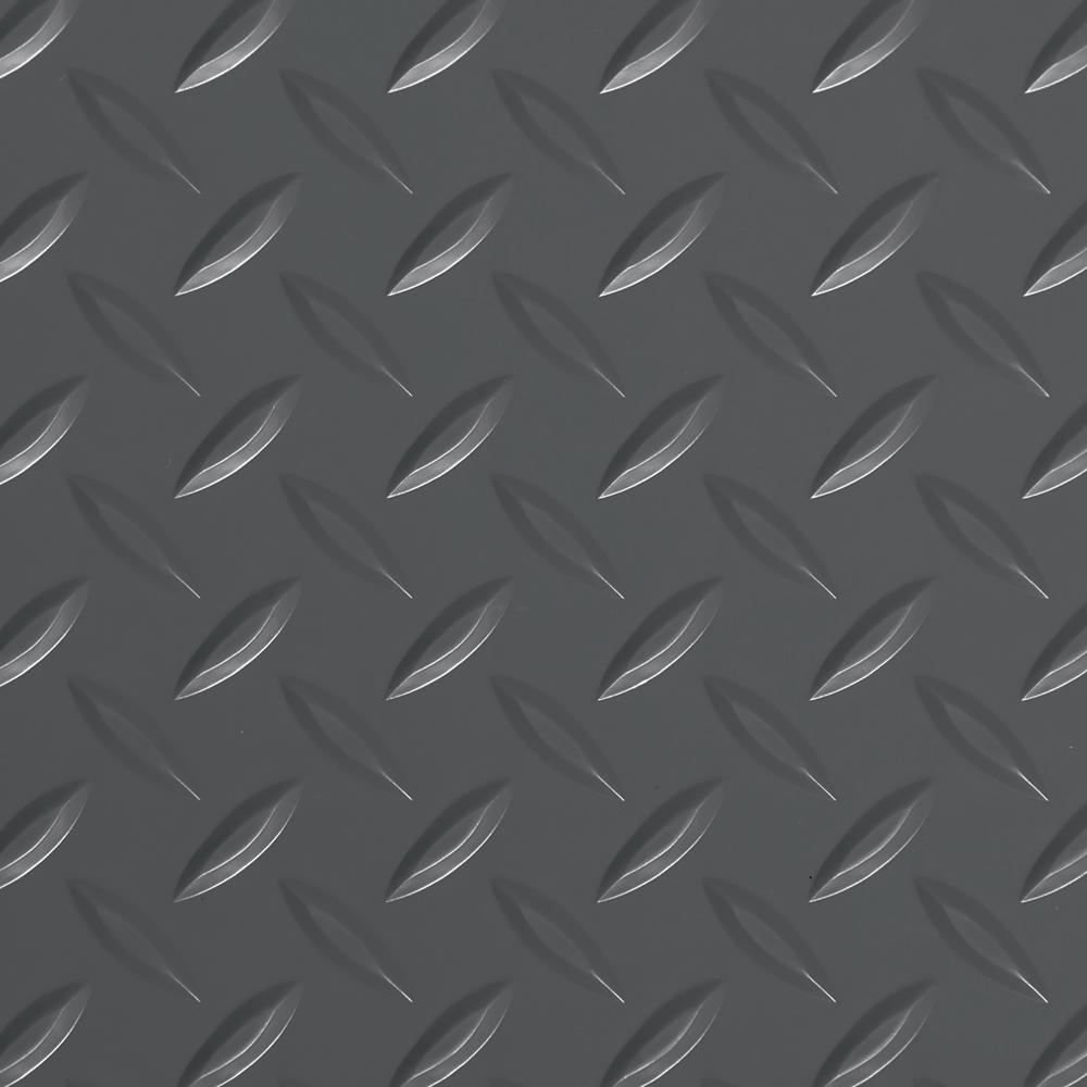 G Floor Diamond Tread 8 5 Ft X 22 Ft Slate Grey Commercial Grade Vinyl Garage Flooring Cover And Protector Gf75dt8622sg The Home Depot