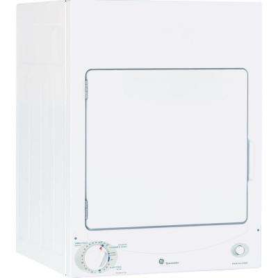 3.6 cu. ft. 120-Volt White Stackable Electric Vented Stationary Compact Dryer