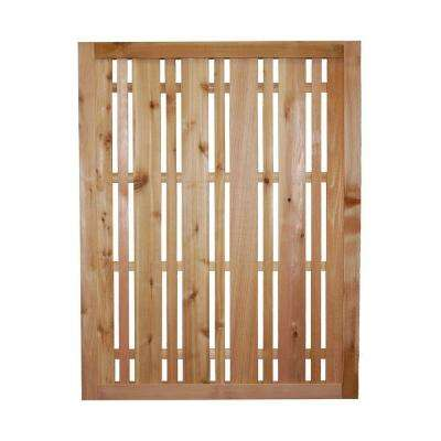 3 ft. x 2.5 ft. Western Red Cedar Horizontal Lattice Fence Panel