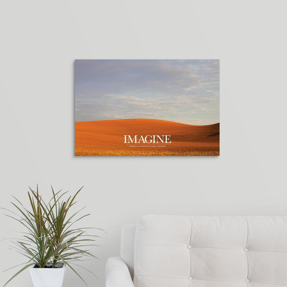 """Inspirational Poster: What we can see"" by Kate Lillyson Canvas Wall"