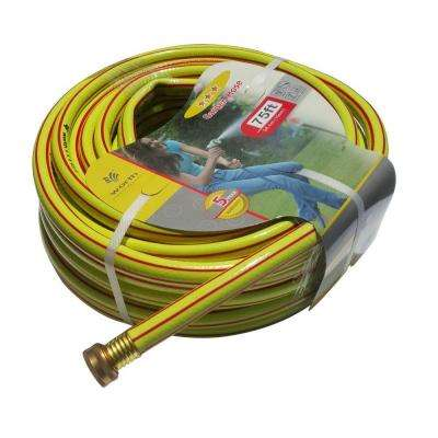 5/8 in. Dia x 75 ft. 3 Stars Yellow Garden Hose