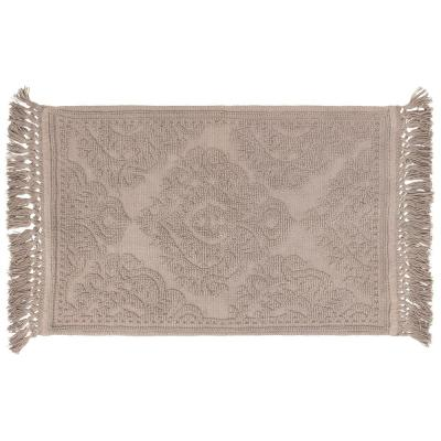 Ricardo Cotton Fringe 27 in. x 45 in. Bath Rug in Linen