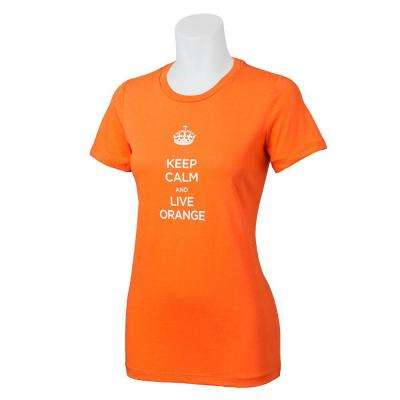 Ladies' Orange Keep Calm Cotton T-Shirt