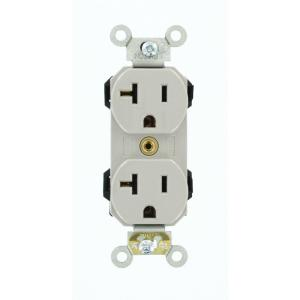 Admirable Leviton 20 Amp Industrial Grade Heavy Duty Self Grounding Duplex Wiring Cloud Staixuggs Outletorg