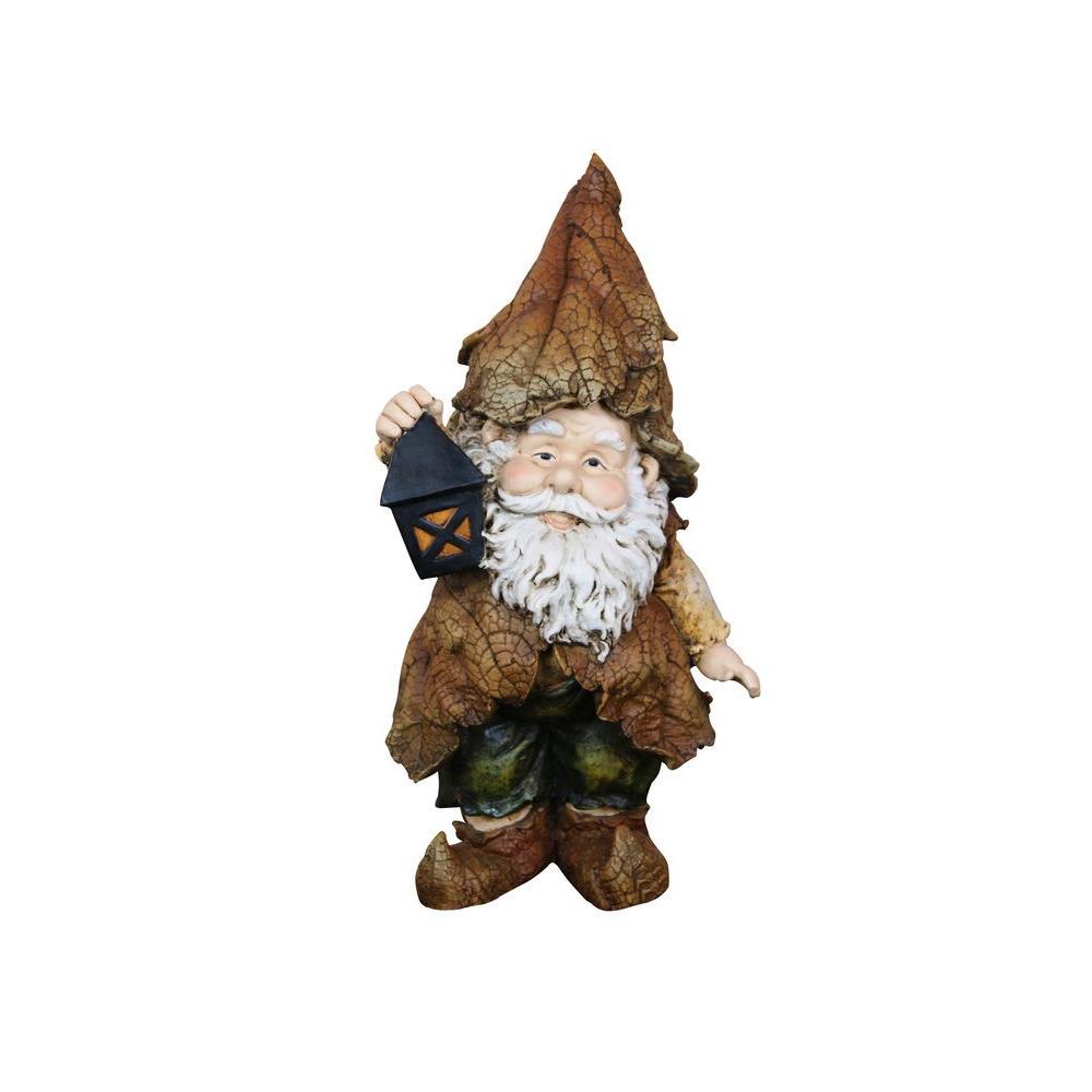 Rainforest Gnome with Lantern Garden Statue