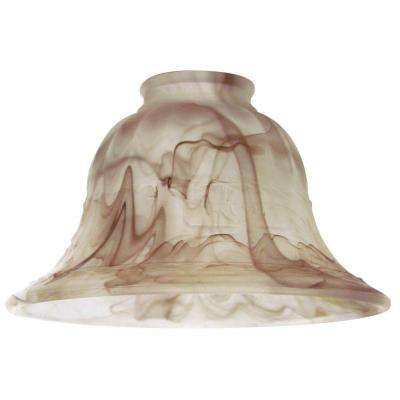 4-1/4 in. Cappuccino Swirl Shade with 2-1/4 in. Fitter and 6-7/8 in. Width