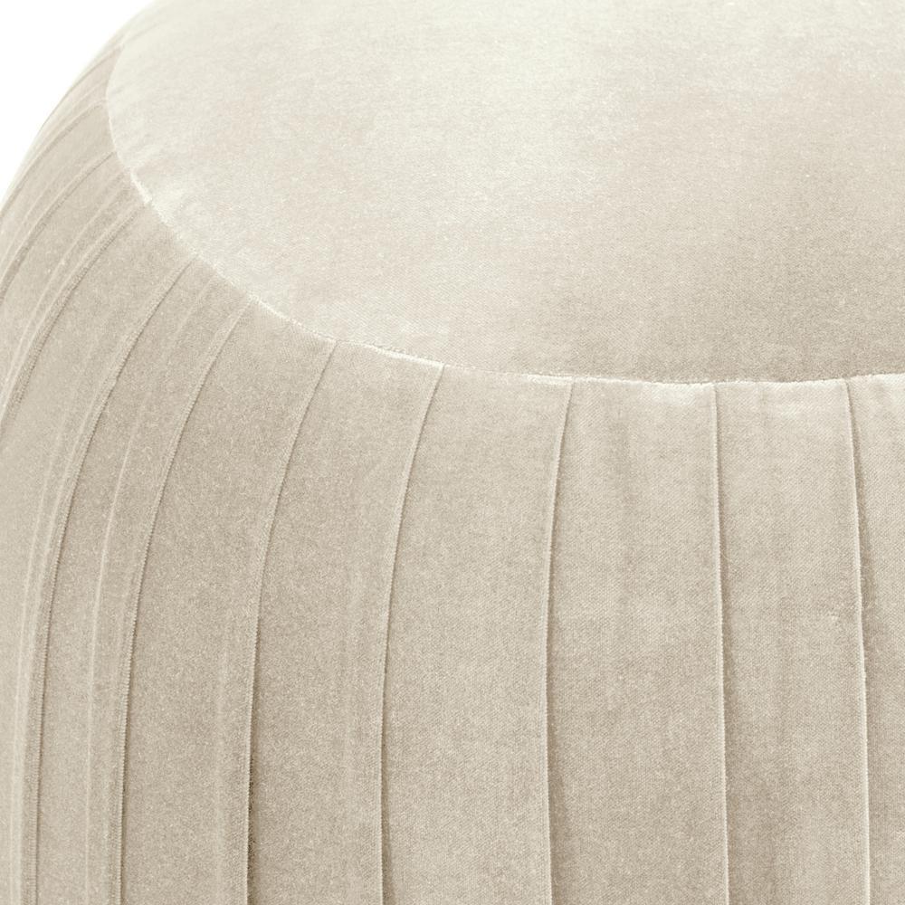 Amazing Regal Antique White Round Shirred Ottoman Spiritservingveterans Wood Chair Design Ideas Spiritservingveteransorg