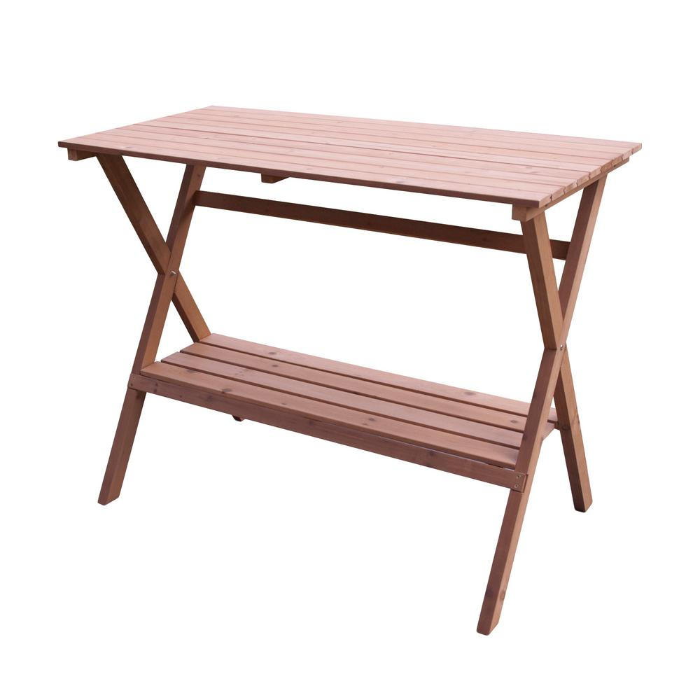 Northbeam Natural Wood Simple Potting Bench