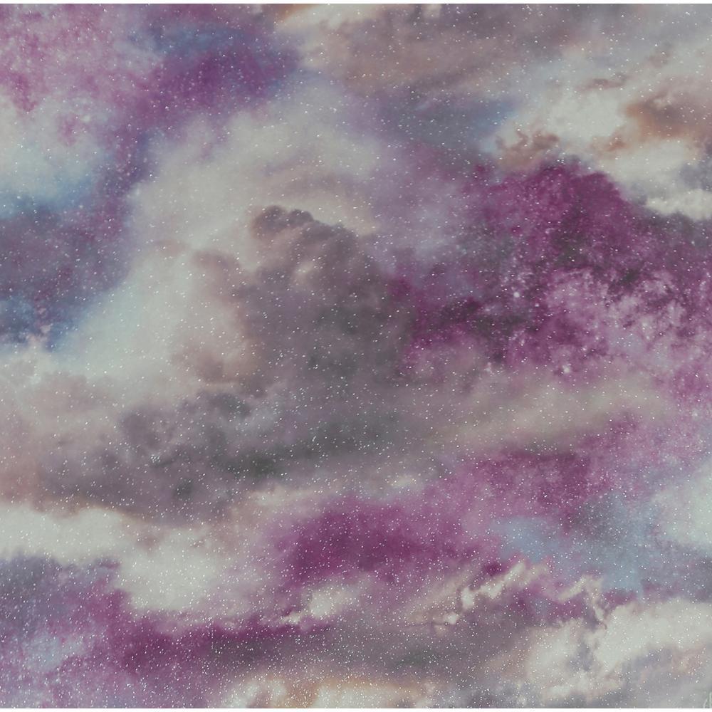Diamond Galaxy Purple/Blush Wallpaper