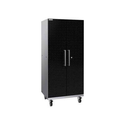 Performance Plus 2.0 60 in. H x 28 in. W x 22 in. D Steel Garage Freestanding Mobile Cabinet Locker in Black