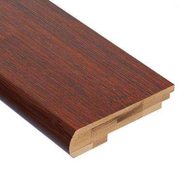 Horizontal Chestnut 9/16 in. Thick x 3-3/8 in. Wide x 78 in. Length Bamboo Stair Nose Molding