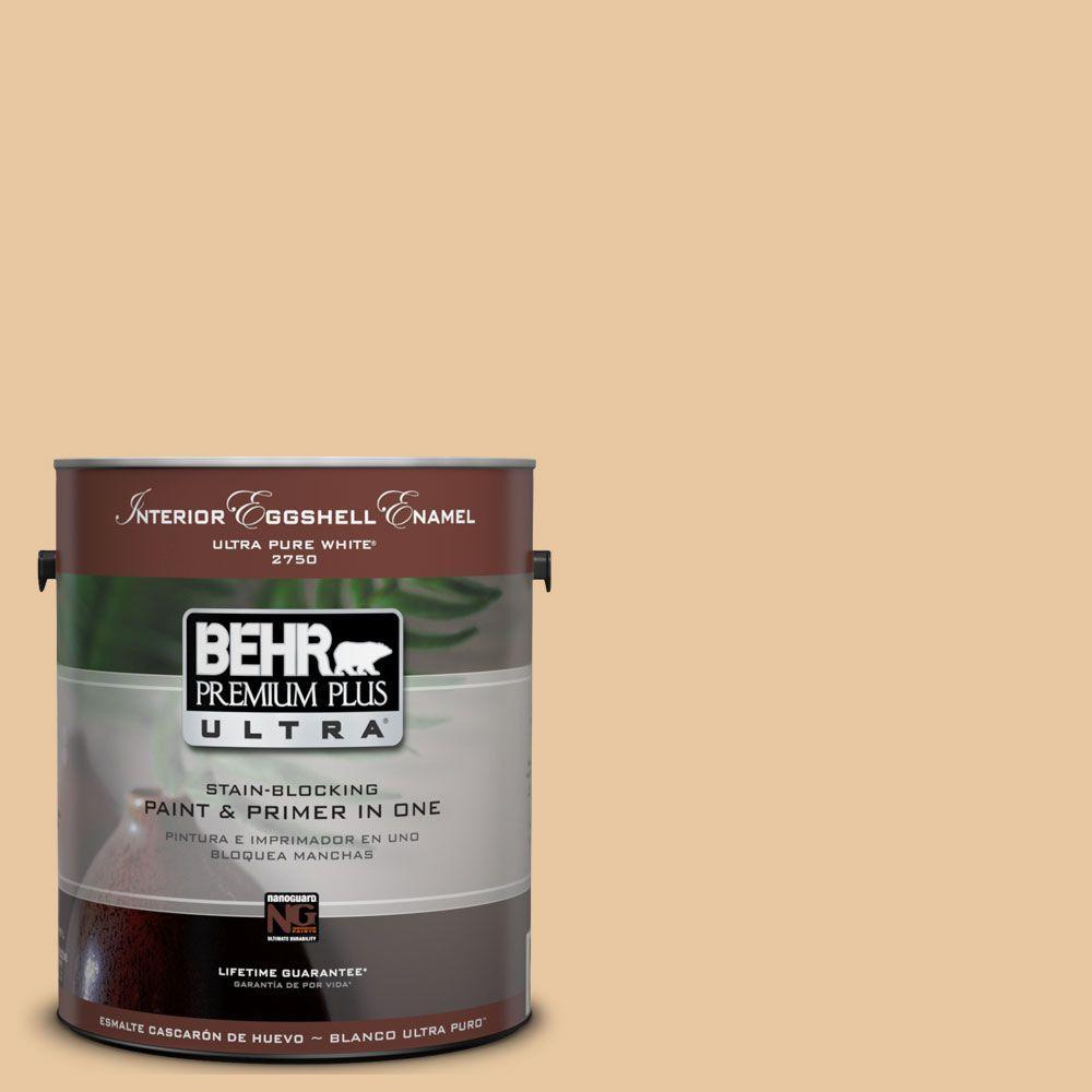 BEHR Premium Plus Ultra 1-Gal. #UL140-18 Jasper Cane Interior Eggshell Enamel Paint