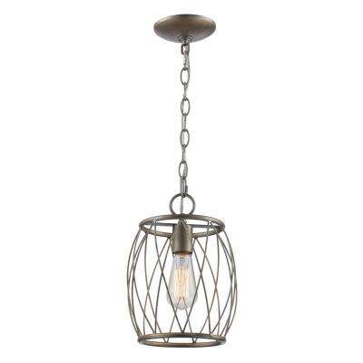 Cage Silver Farmhouse Pendant Lights Lighting The