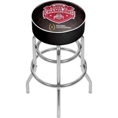 OSU National Champions 31 in. Chrome Padded Bar Stool