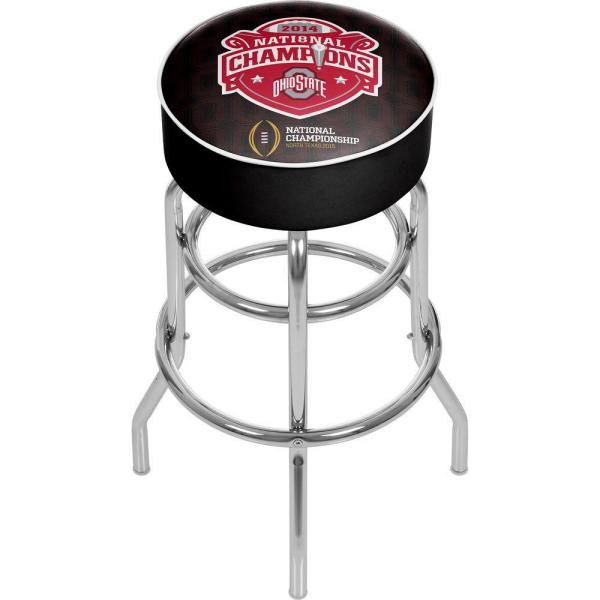 Trademark OSU National Champions 31 in. Chrome Padded Bar Stool OSU1000-NC1