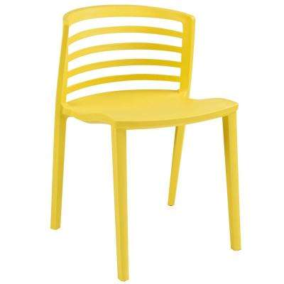 Curvy Yellow Dining Side Chair