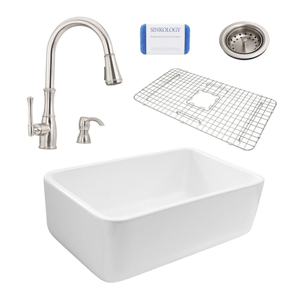 Pfister white pull down faucet pull down white pfister - White kitchen sink faucets ...