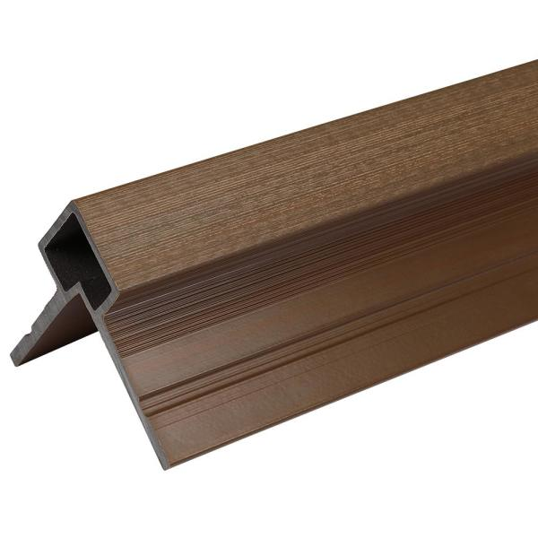 European Siding System 3.1 in. x 3.0 in. x 96 in. Composite Siding Corner Trim in Brazilian Ipe for Belgian Board