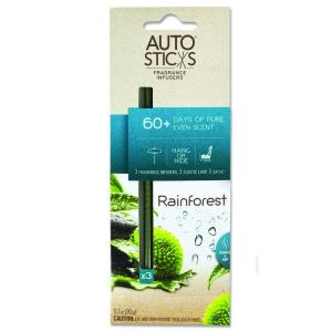AutoSticks Air Freshener Rain Forest (3-Pack) by AutoSticks
