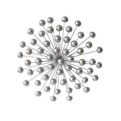 Silver Orb Wall Sculpture 26.5""