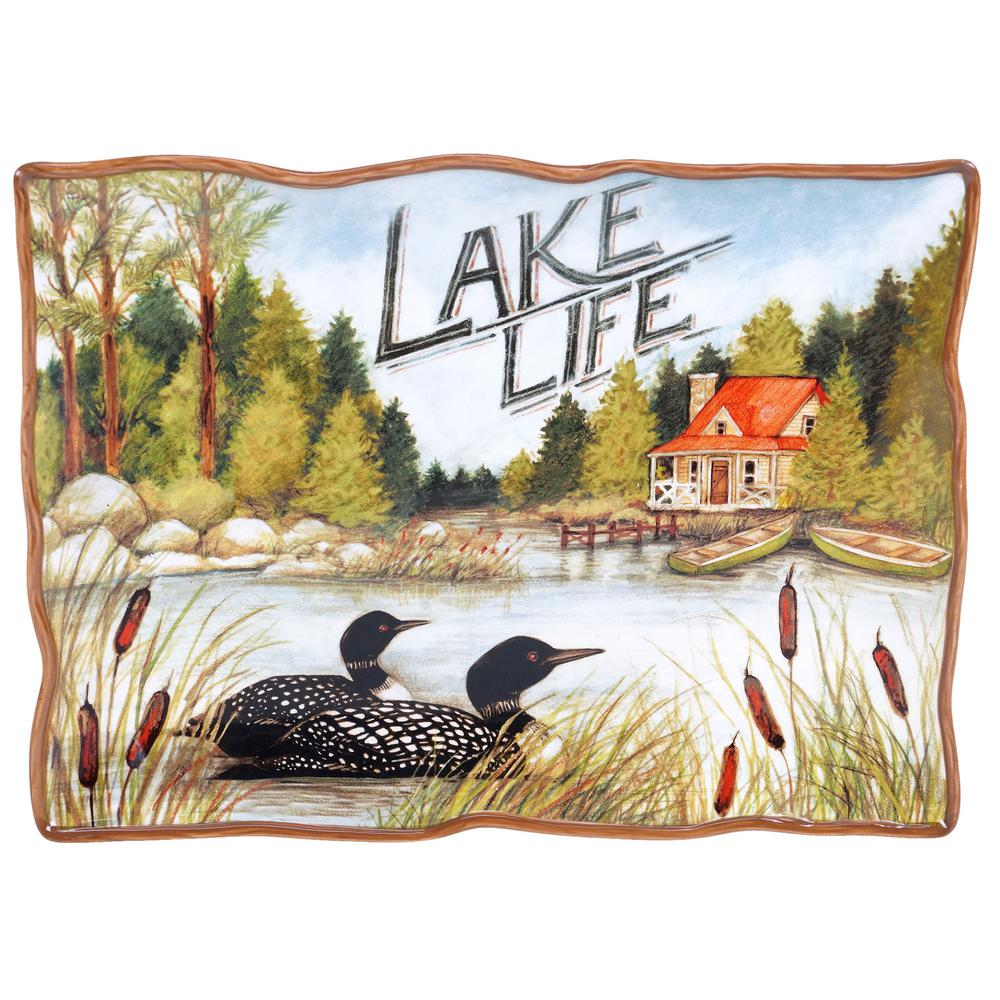 Lake Life Rectangular Platter