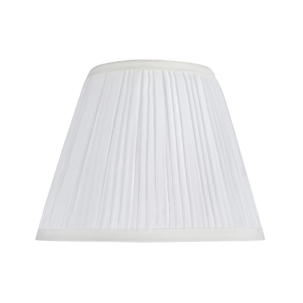 9 in. x 7 in. Off White Hardback Pleated Empire Lamp