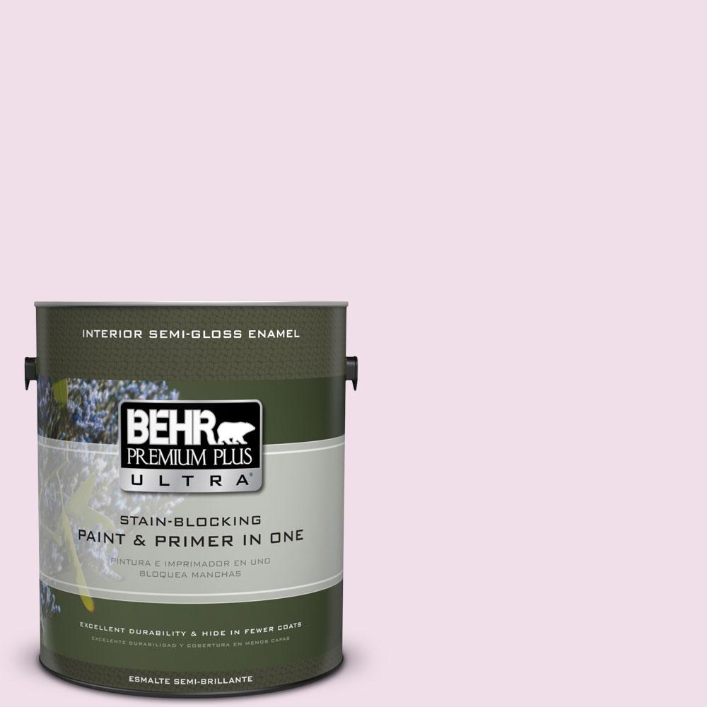 1-gal. #M120-1 Pink Proposal Semi-Gloss Enamel Interior Paint