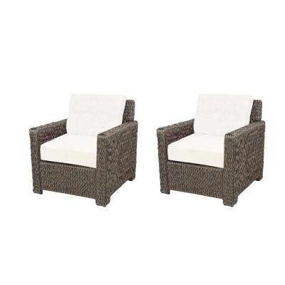 Laguna Point All-Weather Wicker Outdoor Lounge Chairs with Cushions Included, Choose Your Own Color (2-Pack)