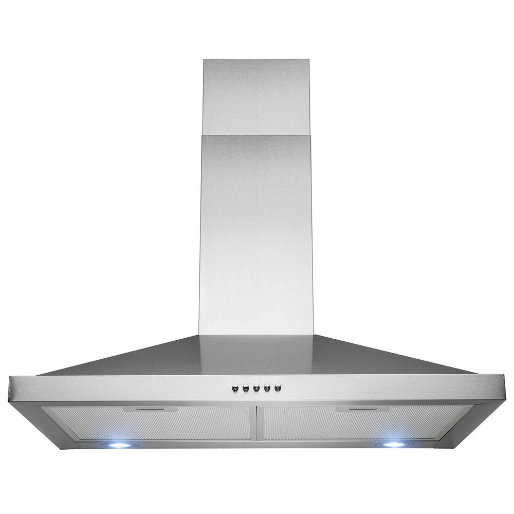 Golden Vantage 30 In Wall Mount Range Hood Stainless Steel With Leds And Push
