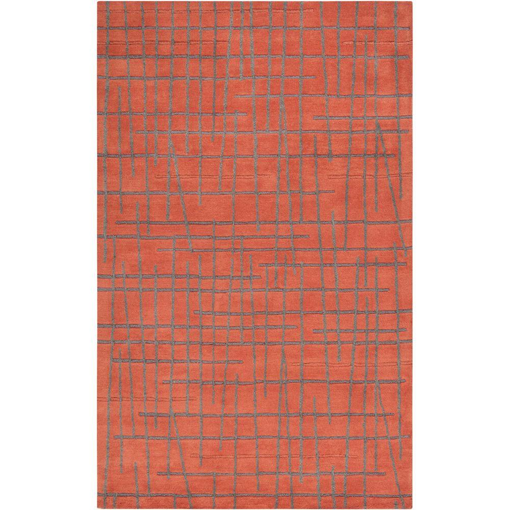 Enigma Red Clay 5 ft. x 8 ft. Area Rug