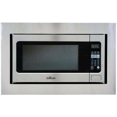 2.2 cu. ft. Built-In Microwave in Stainless Steel with Trim Kit