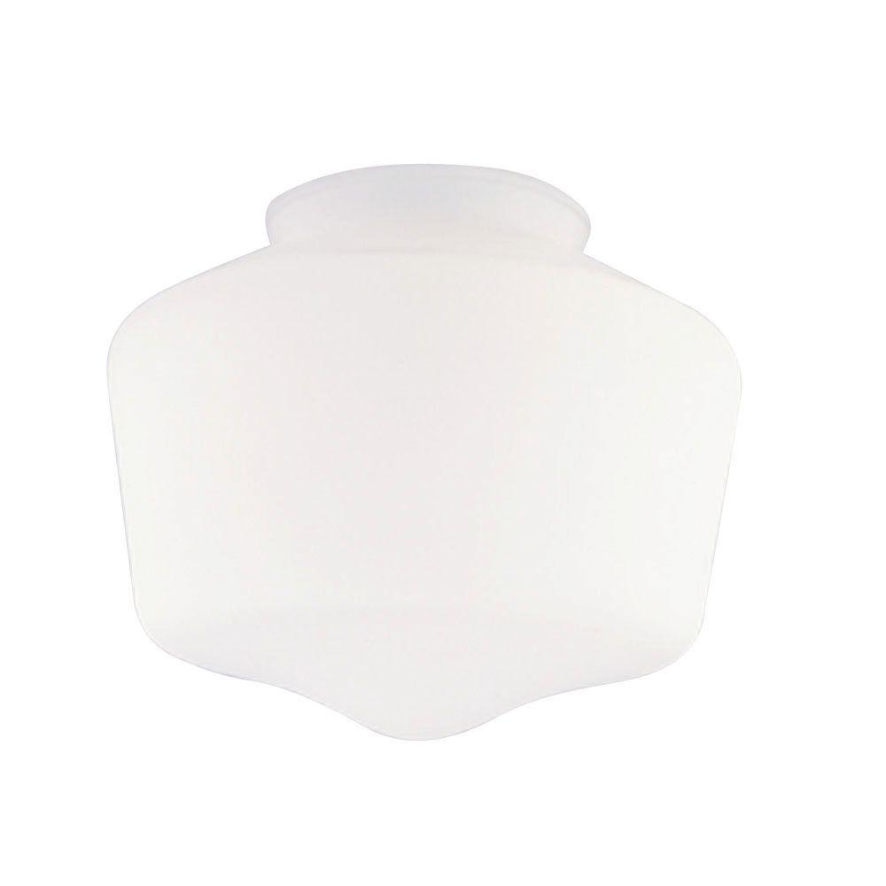 Westinghouse 5 in. Handblown White Schoolhouse Shade with 3-1/4 in. Fitter and 5-3/4 in. Width