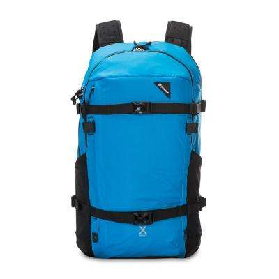 Venturesafe 22 in. Blue Backpack with Laptop Compartment and Raincover