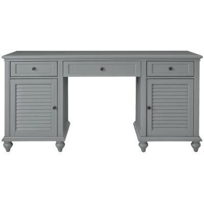 63 in. Gray Rectangular 3 -Drawer Computer Desk with Keyboard Tray
