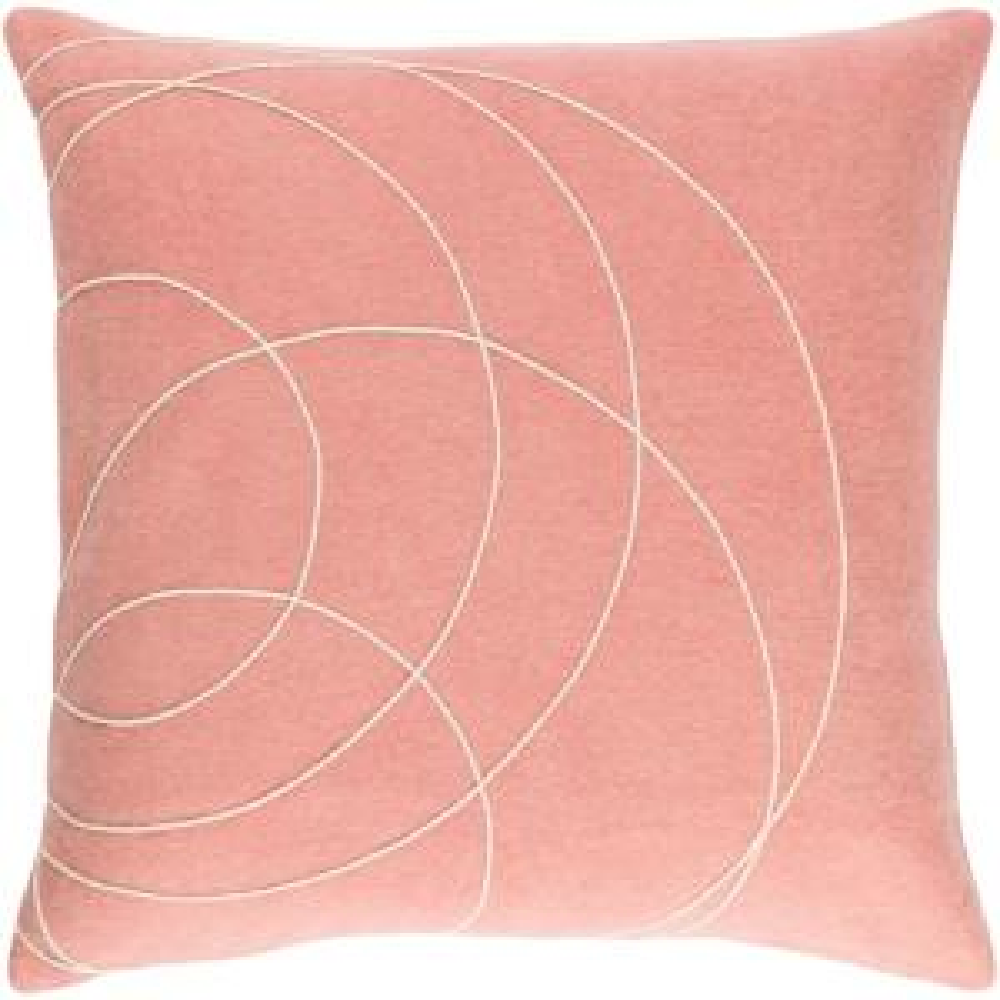 Bempton Purple Geometric Polyester 18 in. x 18 in. Throw Pillow
