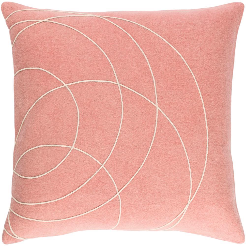 Bempton Purple Geometric Polyester 22 in. x 22 in. Throw Pillow
