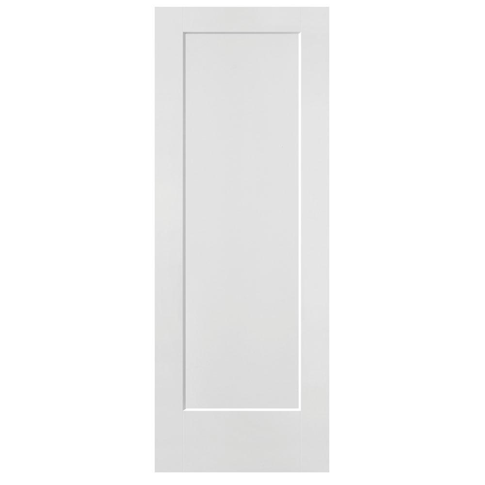 Masonite 32 in x 80 in smooth flush hardboard solid core for Flush solid core wood interior doors