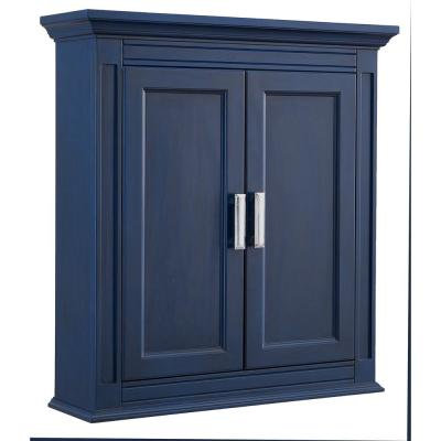 Channing 26 in. W x 28 in. H Wall Cabinet in Royal Blue