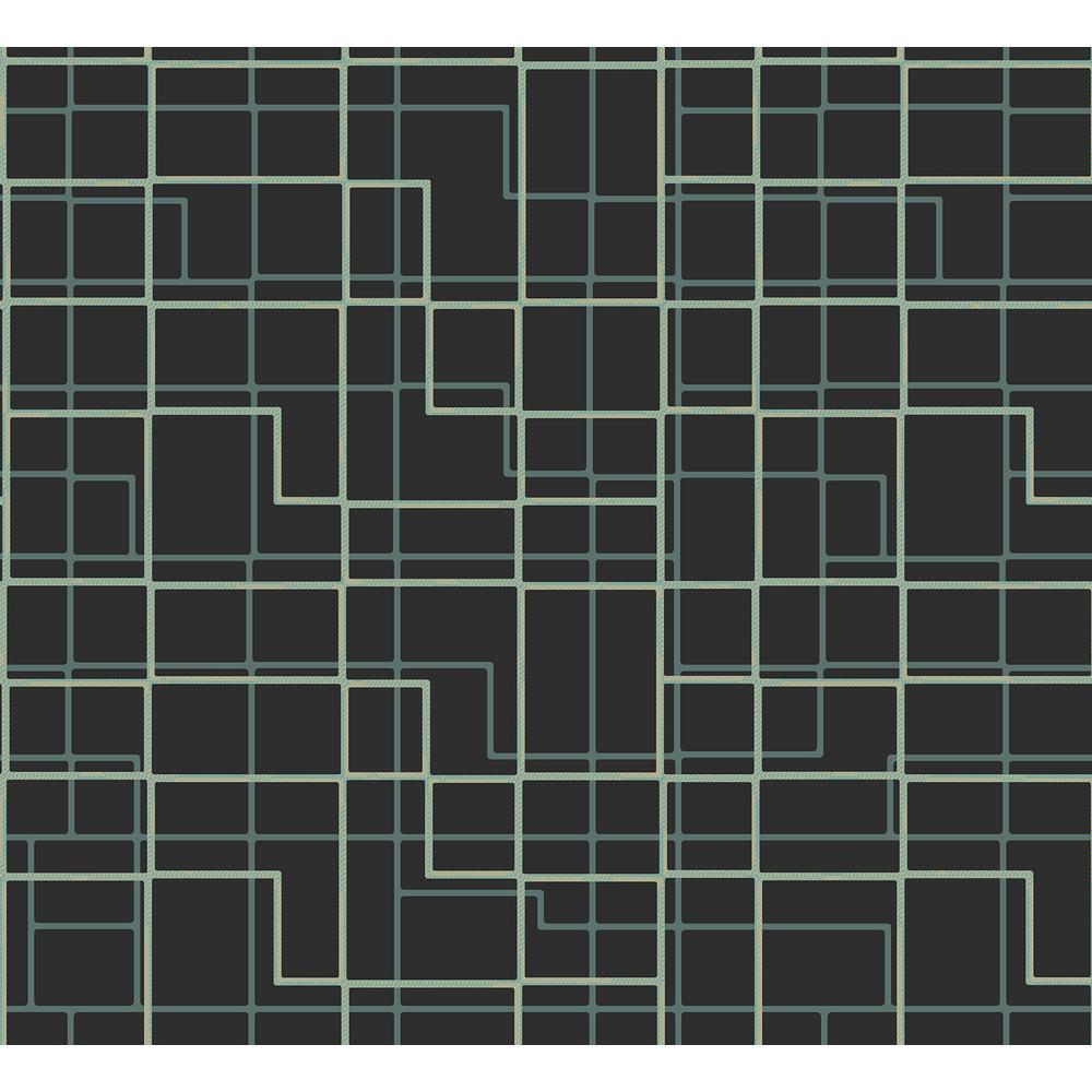 Manila Brown Geometric Wallpaper Sample