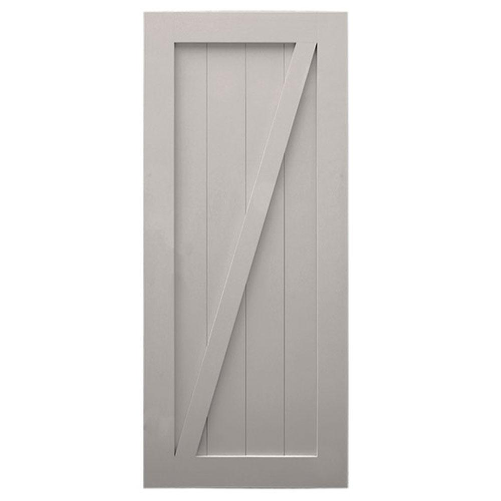 Merveilleux Quiet Glide 42 In. X 84 In. 2 Panel Barn Solid Core Finished