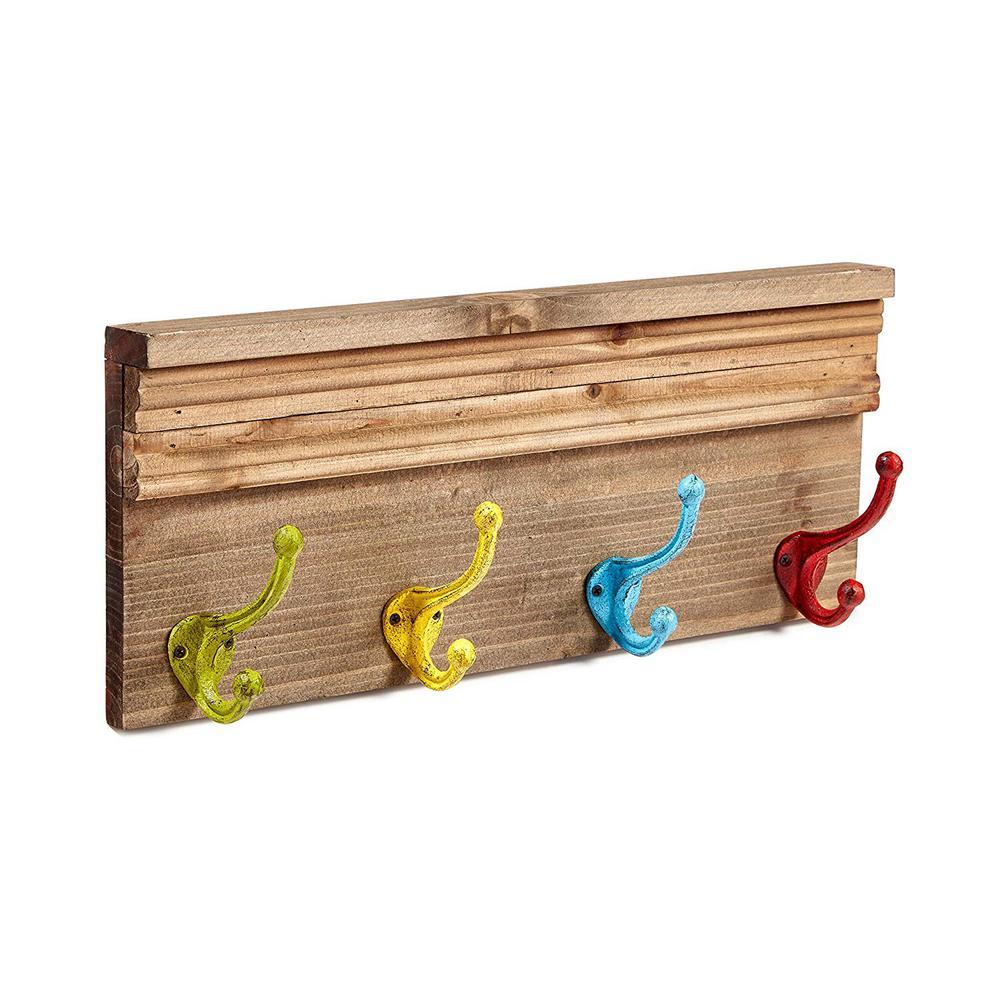 19.6 in. Colorful Kids Coat Hook Rack