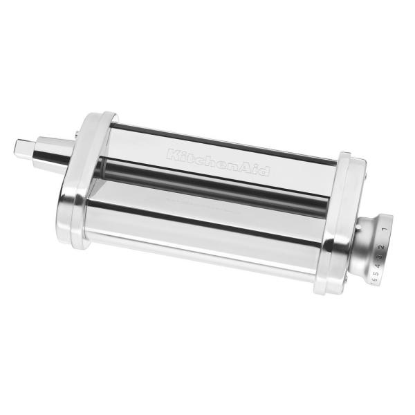 Silver Pasta Roller Attachment for KitchenAid Stand Mixer