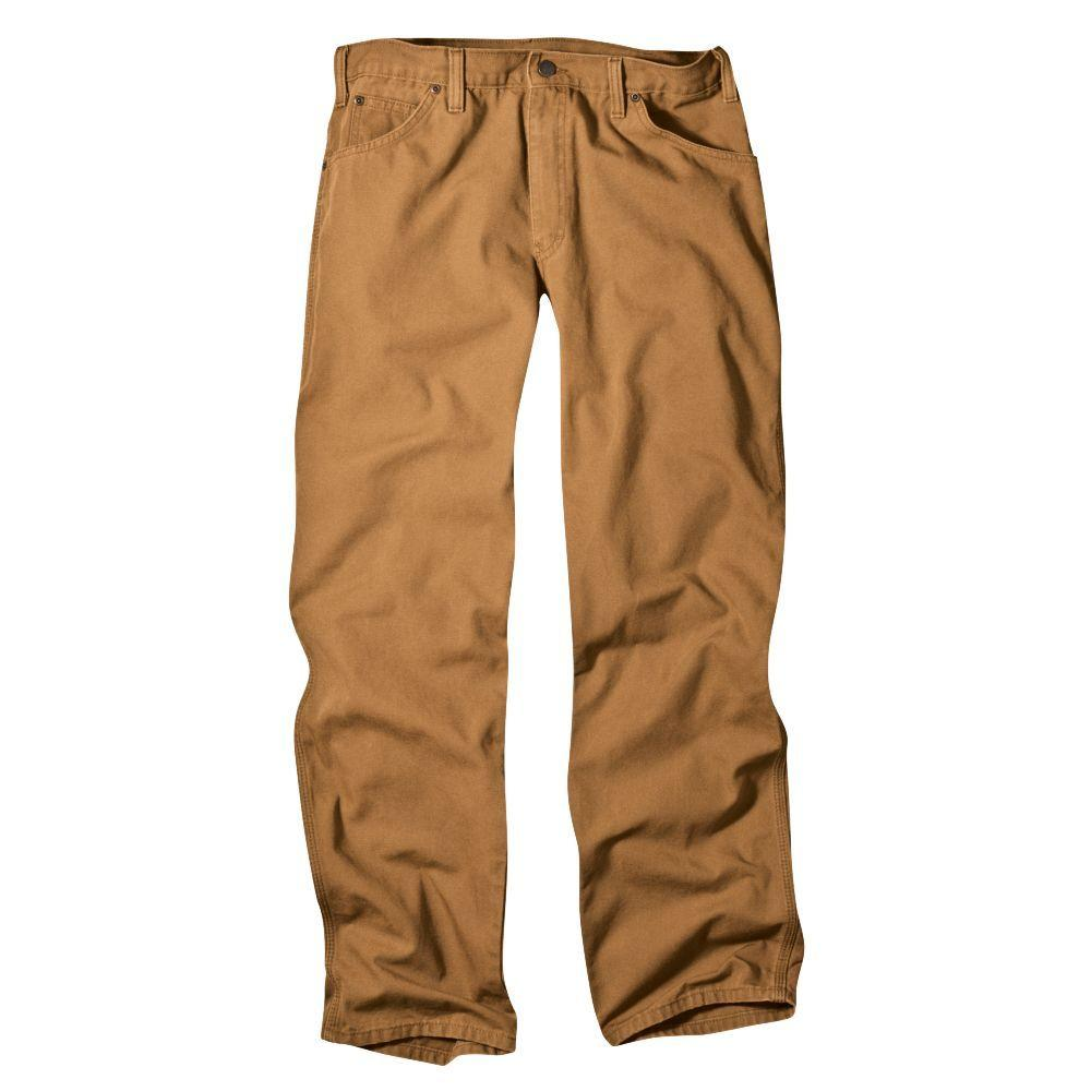 Relaxed Fit 30 in. x 30 in. Dungaree Jean Brown Duck