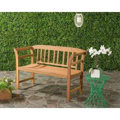 Porterville Outdoor 2 Seat Acacia Patio Bench in Teak