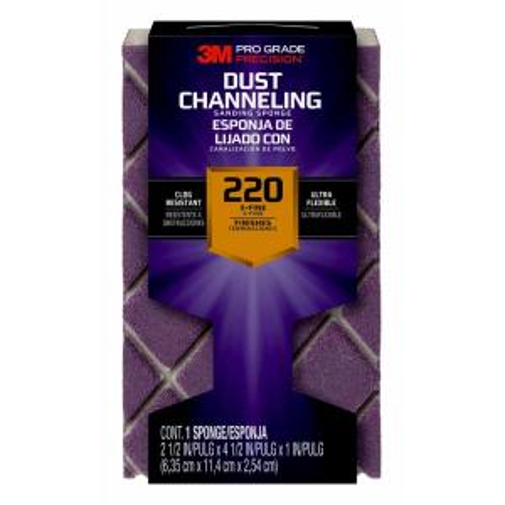 Pro Grade Precision 4-1/2 in. x 2-1/2 in. x 1 in. 220 Grit X-Fine Ultra Flexible Block Sanding Sponge