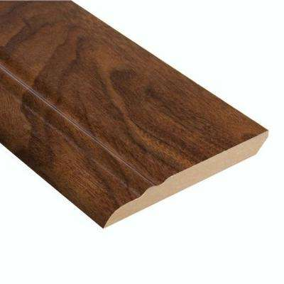 High Gloss Monterrey Walnut 1/2 in. Thick x 3-13/16 in. Wide x 94 in. Length Laminate Wall Base Molding