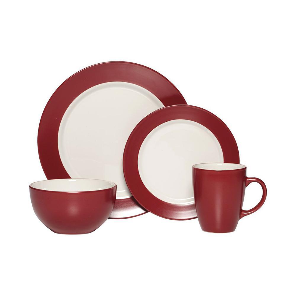 16-Piece Harmony Red Dinnerware Set